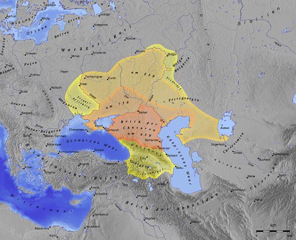 map of khazaria