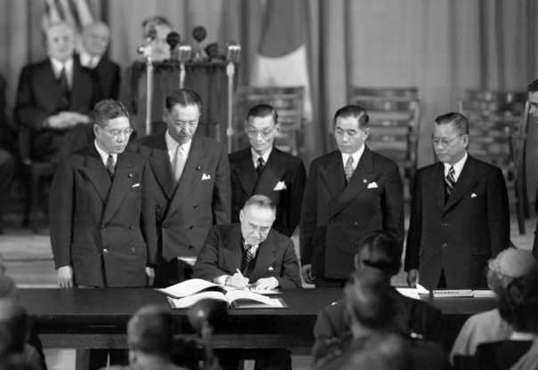 Japanese Prime Minister Signs Treaty